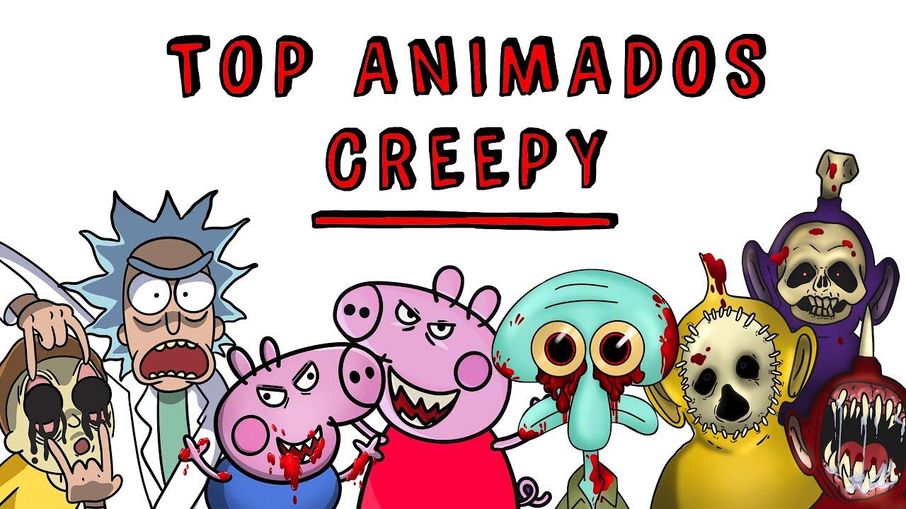 Top Animados Creepy  🔪 Historias de Terror con tus series favoritas | Tiktak Draw Terror