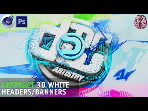 Tutorial: Abstract 3D White Headers/Banners | C4D R17 + Photoshop CC by Qehzy