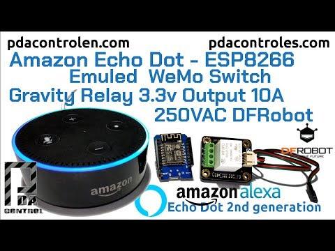 Quick test Amazon Echo Dot (Alexa): ESP8266 WEMOS - Relay 3v