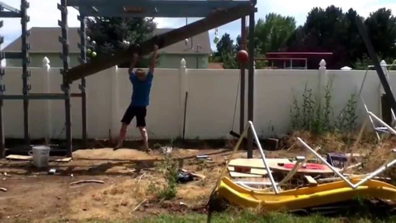 trying out the new ring toss american ninja warrior youtube
