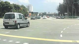 Barbaric Driver 6 - Extremely reckless car cuts dangerously into my lane during a right turn!