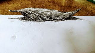 How to Draw & Shade a Leaf (Sketching Practice Tutorial) 3d leaf paintings with pencils / ever art