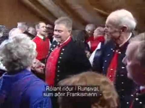 """""""Runtsivalstríðið"""" Faroese folkdanse."""