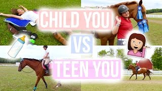 Child You Vs. Teen You: Equestrians | Equestrian Prep