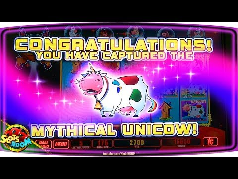 UNICOW JACKPOT!!! 5x Line Bet!!! Invaders Return From The Planet Moolah!!! 1c WMS Slots