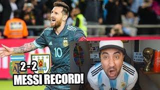 Argentina Vs Uruguay | MESSI y AGUERO SIEMPRE! | Reacción de un hincha!