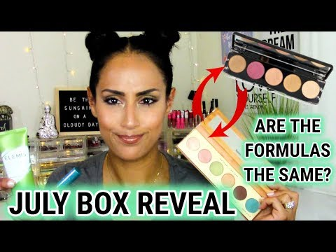 BOXYCHARM JULY REVEAL, Unboxing & TRY ON