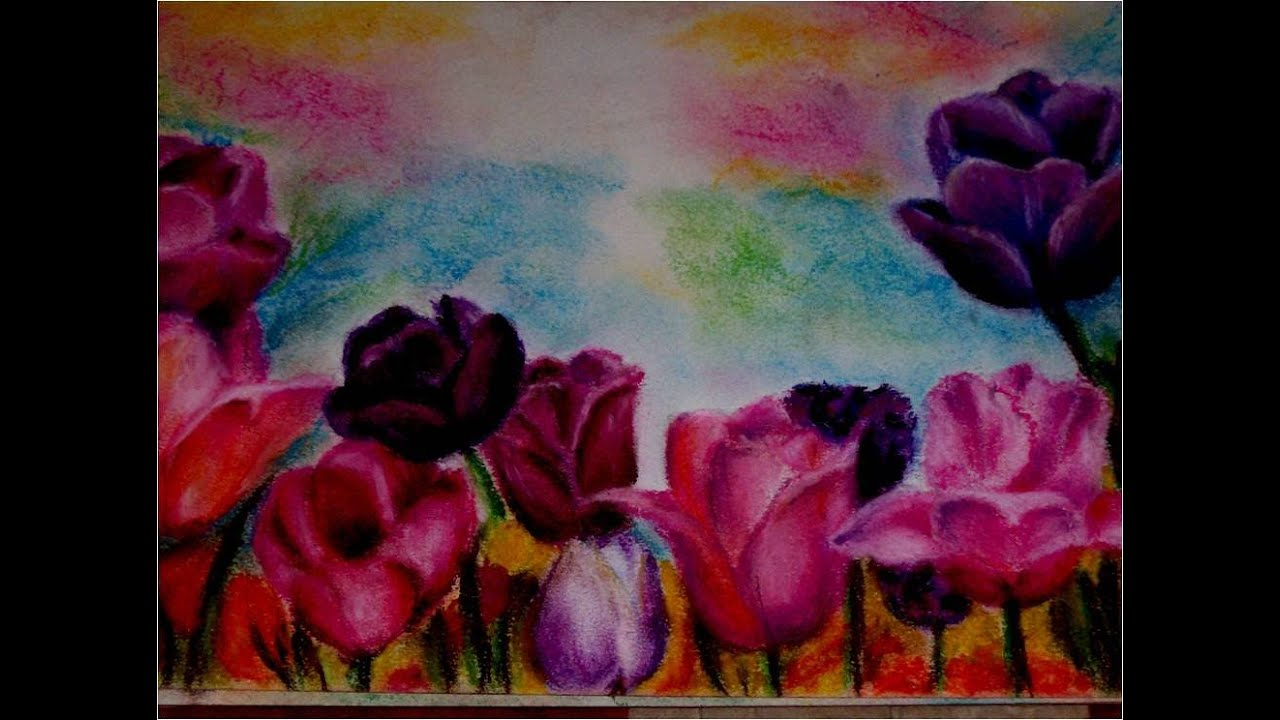 Clases De Dibujo Y Pintura Flores Con Tiza Pastel Cursos Talleres 2012 Lima Perú