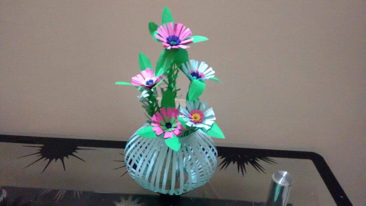 How to make beautiful paper flower bouquetbasket paper lantern how to make beautiful paper flower bouquetbasket paper lantern flower vase making at home youtube mightylinksfo