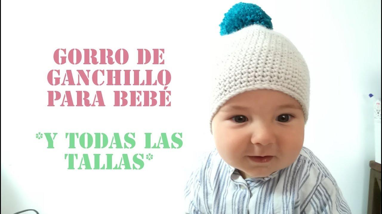 GORRO FÁCIL A CROCHET TODAS LAS MEDIDAS - YouTube
