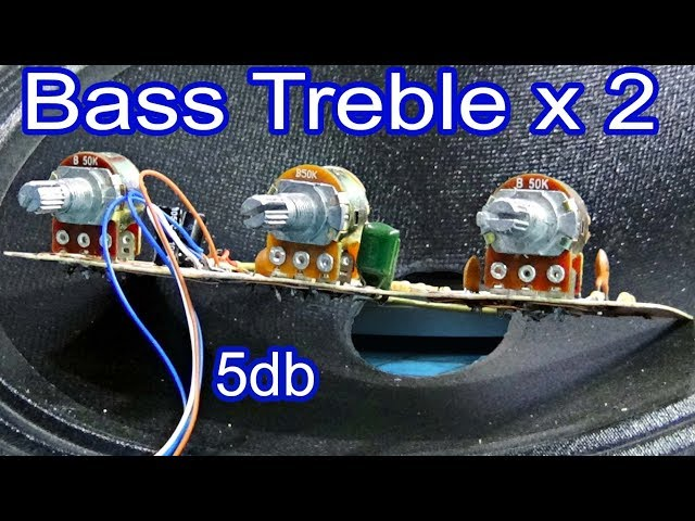 How to add a volume control to the amplifier  Hi fi bass treble circuit diagram simple  Make 3
