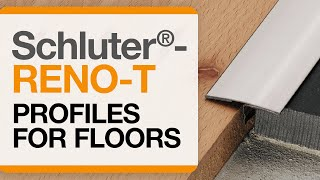 How to install a tile transition on floors: Schluter®-RENO-T profile