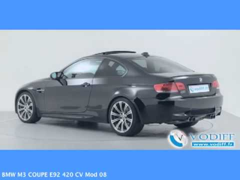 vodiff bmw occasion alsace bmw m3 coupe e92 420 cv mod 08 youtube. Black Bedroom Furniture Sets. Home Design Ideas