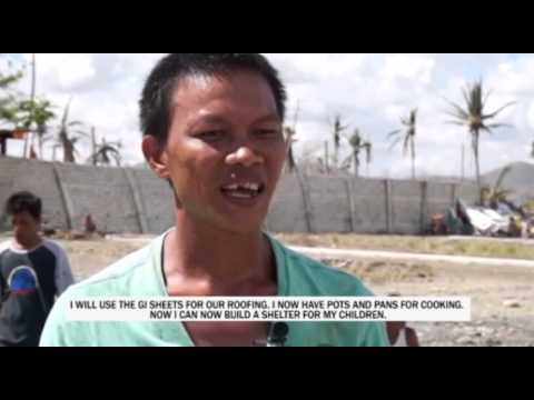 Post-Typhoon aid in the Philippines