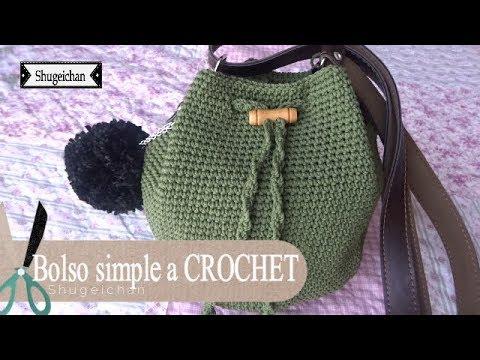 Bolso simple y bonito a CROCHET - YouTube