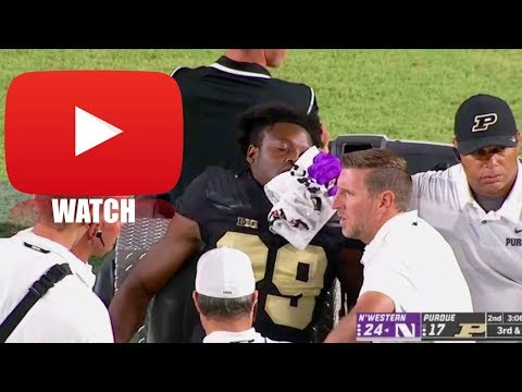 Lost an Eye? *Graphic Injury* (HD) Purdue vs Northwestern