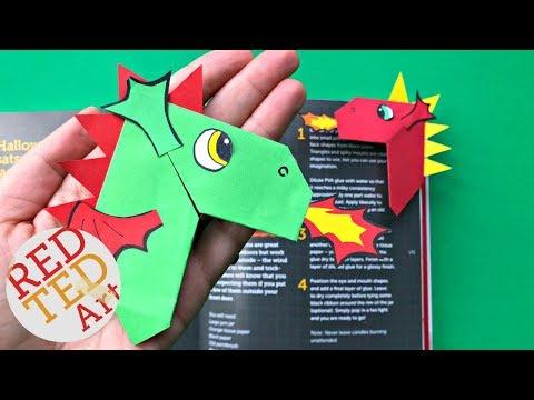 Easy Dragon Corner Bookmark DIY   Chinese New Year Dragon Craft