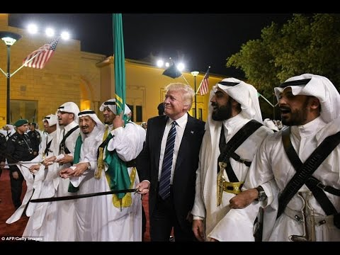 Potus Trump & King Salman Dancing During Ceremony in Saudi Arabia