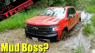 Does It Get Stuck? Chevy Silverado Trail Boss takes on the Muddy Hydroline Off-Road Review!