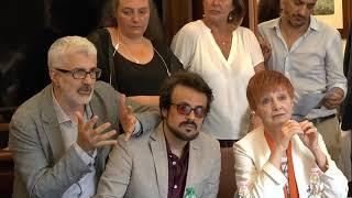 Milena Vukotic, Maximilian Nisi, Marcello Cotugno - Conferenza Stampa 52° Festival di Borgio Verezzi