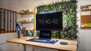 Modern 2021 Work From Home Desk Setup - DIY IKEA Makeover!