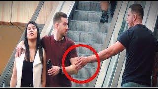 TOUCHING STRANGERS HANDS ON ESCALATOR IN HOUSTON!!