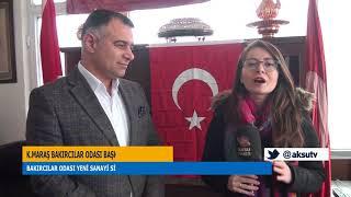 K.Maraş Bakırcılar Odası Bakırcı Esnafına Türk Bayrağı Dağıttı