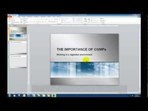 Creating Interactive Buttons and Triggers in Powerpoint 2010