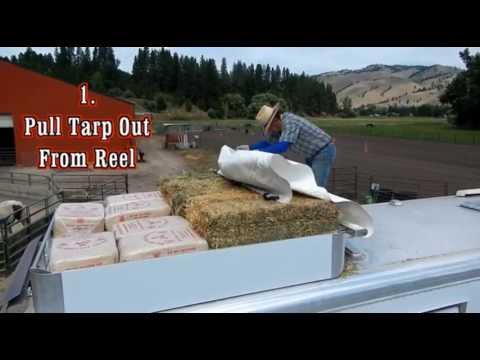 hay easy horse trailer hay tarp