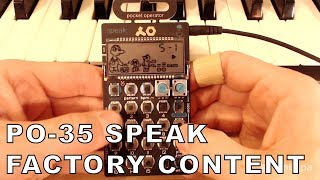 PO-35 Speak: Factory content and voice effects (Line audio only, no talking)