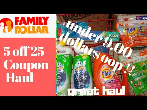 Family Dollar 5 Off 25 Coupon Haul. Under 9.00 Dollars! Ends 11/30