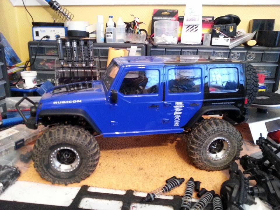 Axial Scx10 Jeep Wrangler Rubicon My New Upgraded Rc Car