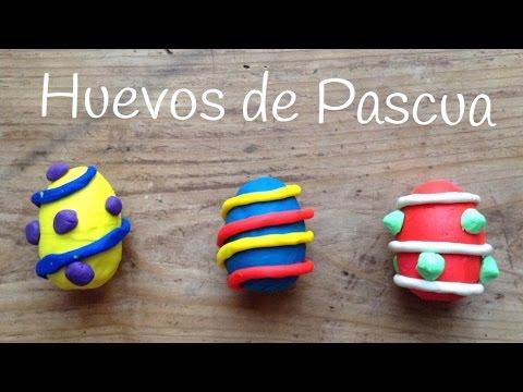 Huevos de pascua de plastilina, perfectos para decorarlos y regalar con una gran sorpresa