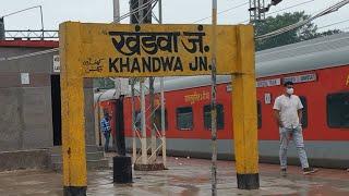 KNW, Khandwa Junction railway station Madhya Pradesh, Indian Railways Video in 4k ultra HD