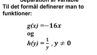 Man kan løse en differentialligning