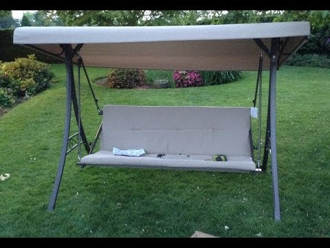 Home Depot Hampton Bay Futon Swing Assembly Tutorial