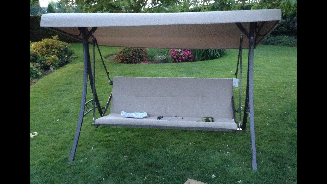 & Home Depot Hampton Bay Futon Swing Assembly Tutorial - YouTube