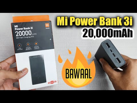 Mi Power Bank 3i 20000mAh Unboxing, Review & Charging Speed Test in Hindi