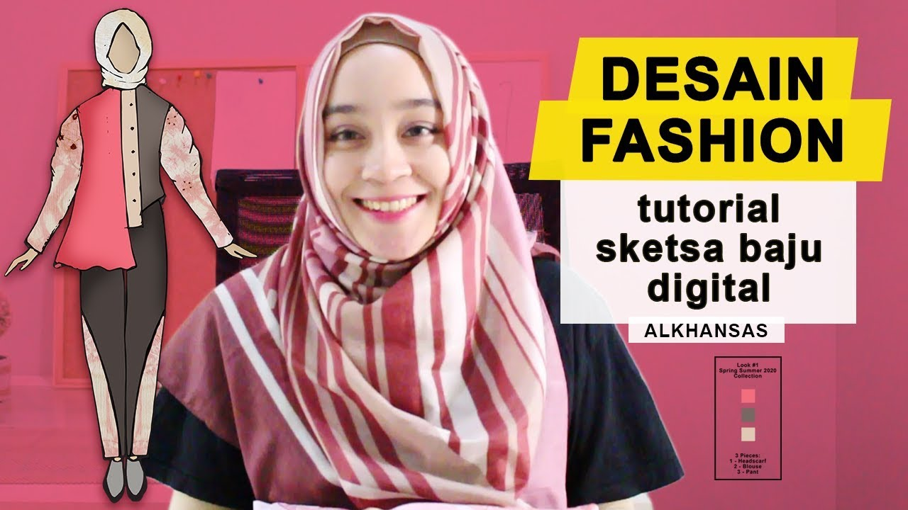 Cara Desain Baju  Sketsa Baju Digital  Adobe Photoshop & Illustrator
