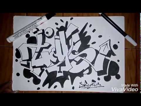 Graffiti Kertas Simpel Youtube