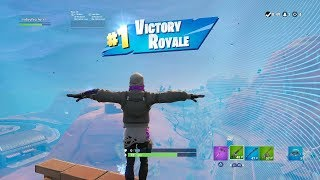 "FORTNITE First Win with ""STRATUS"" SKIN (REACTIVE ""STRATUS"" OUTFIT Showcase) 