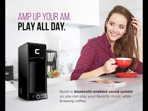 Chefman Coffee Maker K-Cup BUZZ Brewer with Bluetooth Enabled Speaker System and FILTER Amazon.com