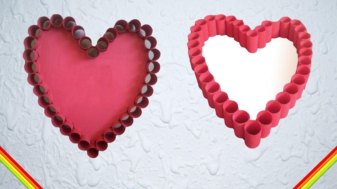 Manualidades corazon de tubos de papel higienico - Youtube manualidades de papel ...