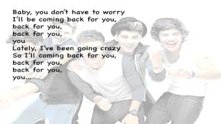 One Direction Back For You KARAOKE LYRICS ON SCREEN Without Voices