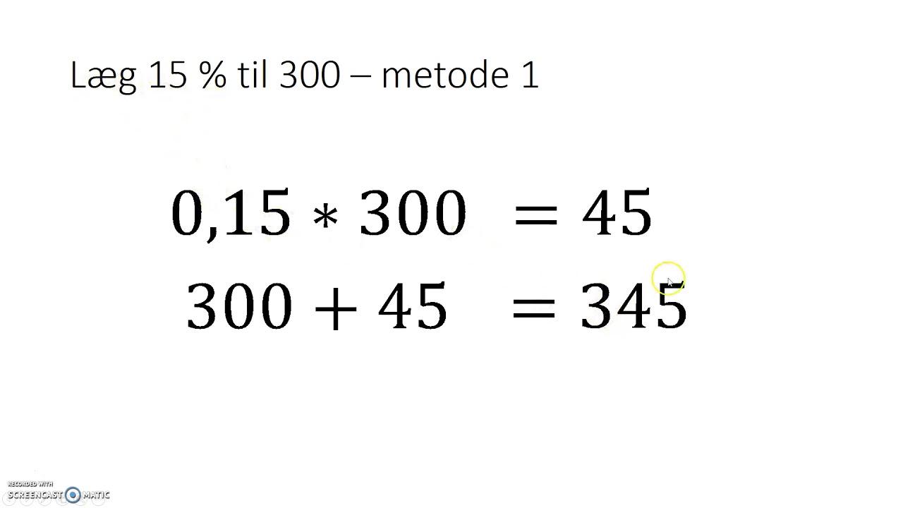 Læg procent til et tal