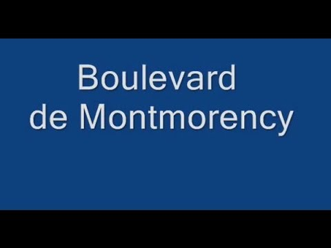 Boulevard de Montmorency Paris Arrondissement 16e