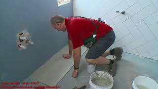 huong dan op lat gach bang keo dan gach vicin ( how to wall&floor tiling by tile adhesive)