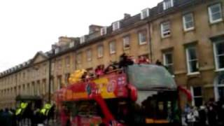 Olympian Amy Williams Bath homecoming bus tour - Part 2