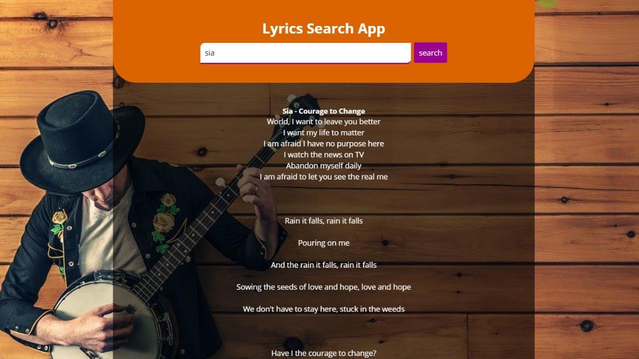 Build A Song Lyrics App With Javascript