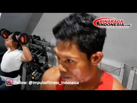 "Tim Binaraga Indonesia Latihan Otot Kaki Di Gym SAHRI "" The Blade """